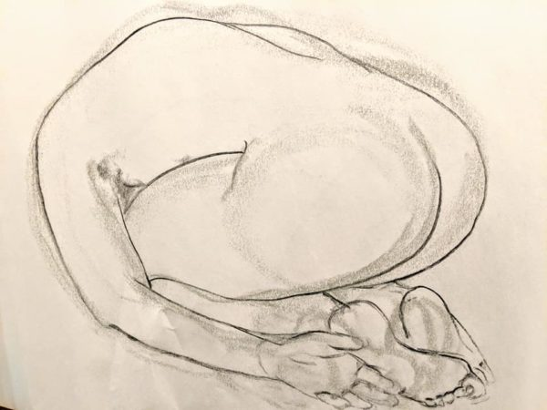 Curved figure drawing Mary Anderson - Newark Arts Alliance