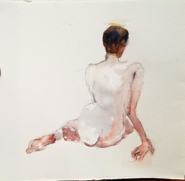 Figure Drawing in pale pink - Newark Arts Alliance