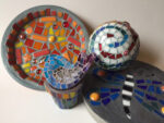 Mosaic Stepping Stones taught by Terry Foreman