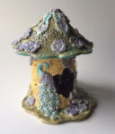 """Peacock Fairy House Light"" by Sue Ann Cox, ceramics"