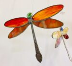 Dragonflies in stained glass by Gail Bush, $25